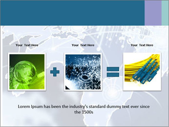 Globe with Fiber Optics PowerPoint Templates - Slide 22