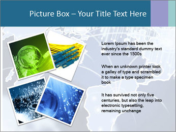 Globe with Fiber Optics PowerPoint Templates - Slide 23