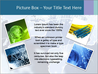 Globe with Fiber Optics PowerPoint Templates - Slide 24