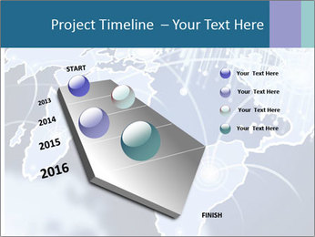 Globe with Fiber Optics PowerPoint Templates - Slide 26