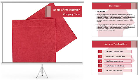 Christmas or festive paper PowerPoint Template