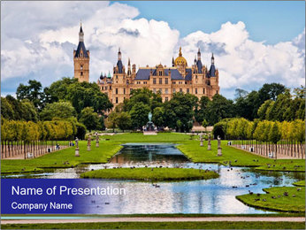 The beautiful castle PowerPoint Template