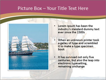 Vintage wooden tall ship PowerPoint Template - Slide 13