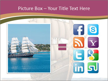 Vintage wooden tall ship PowerPoint Template - Slide 21