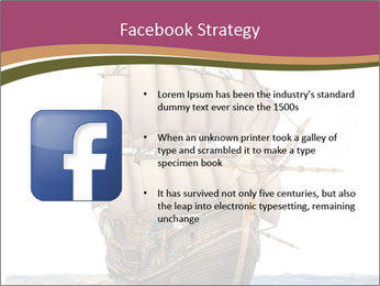 Vintage wooden tall ship PowerPoint Template - Slide 6