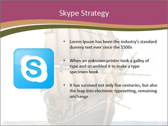 Vintage wooden tall ship PowerPoint Template - Slide 8