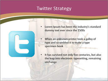 Vintage wooden tall ship PowerPoint Template - Slide 9