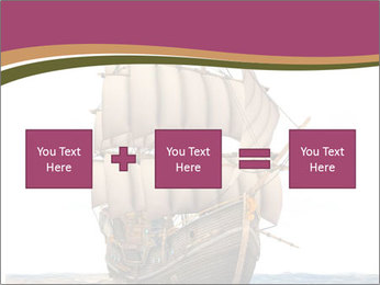 Vintage wooden tall ship PowerPoint Template - Slide 95