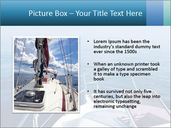 Blue sea boat PowerPoint Templates - Slide 13