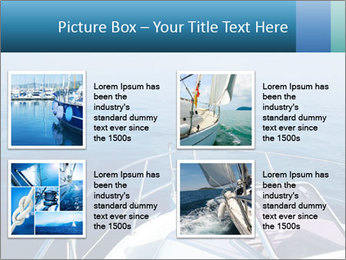 Blue sea boat PowerPoint Templates - Slide 14