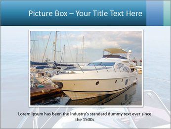 Blue sea boat PowerPoint Templates - Slide 15