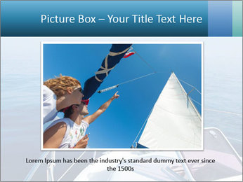 Blue sea boat PowerPoint Templates - Slide 16