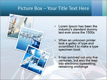 Blue sea boat PowerPoint Templates - Slide 17