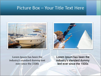 Blue sea boat PowerPoint Templates - Slide 18