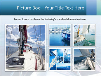 Blue sea boat PowerPoint Templates - Slide 19