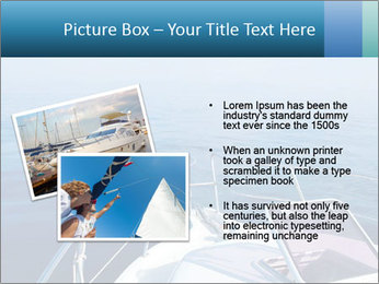 Blue sea boat PowerPoint Templates - Slide 20
