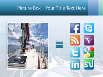 Blue sea boat PowerPoint Templates - Slide 21