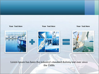 Blue sea boat PowerPoint Templates - Slide 22