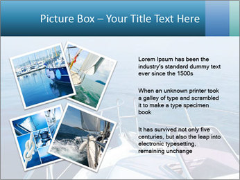 Blue sea boat PowerPoint Templates - Slide 23