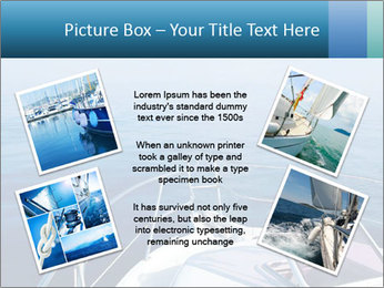 Blue sea boat PowerPoint Templates - Slide 24
