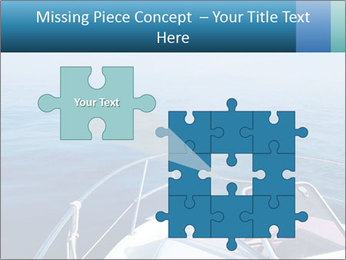 Blue sea boat PowerPoint Templates - Slide 45