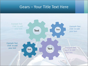 Blue sea boat PowerPoint Templates - Slide 47