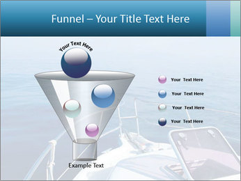 Blue sea boat PowerPoint Templates - Slide 63