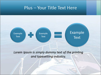 Blue sea boat PowerPoint Templates - Slide 75