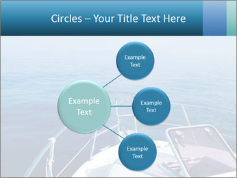 Blue sea boat PowerPoint Templates - Slide 79