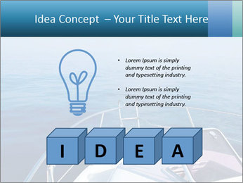 Blue sea boat PowerPoint Templates - Slide 80