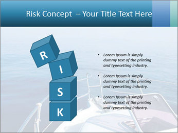 Blue sea boat PowerPoint Templates - Slide 81