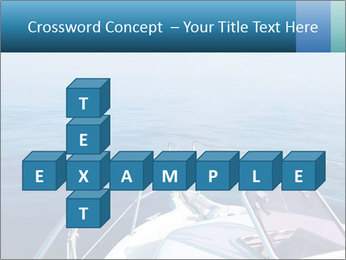 Blue sea boat PowerPoint Templates - Slide 82