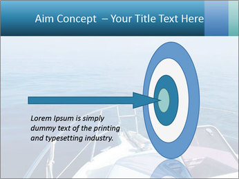 Blue sea boat PowerPoint Templates - Slide 83