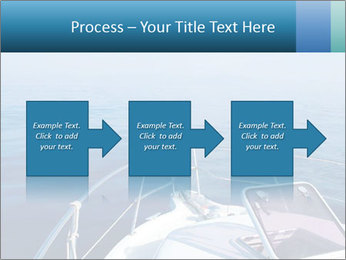 Blue sea boat PowerPoint Templates - Slide 88