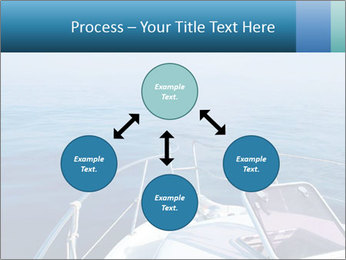 Blue sea boat PowerPoint Templates - Slide 91