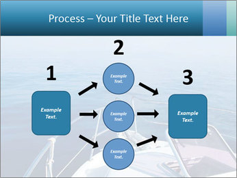 Blue sea boat PowerPoint Templates - Slide 92
