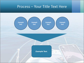 Blue sea boat PowerPoint Templates - Slide 93