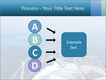 Blue sea boat PowerPoint Templates - Slide 94