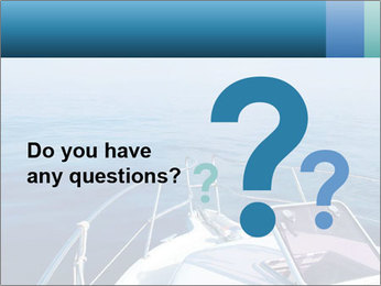Blue sea boat PowerPoint Templates - Slide 96
