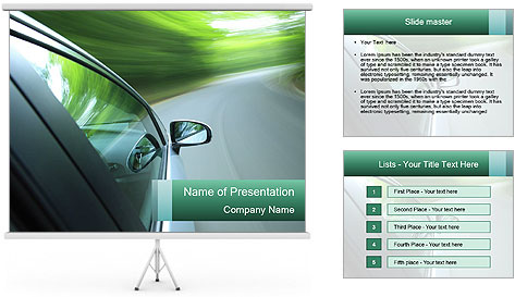 Driving PowerPoint Template