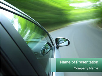 Driving PowerPoint Template - Slide 1