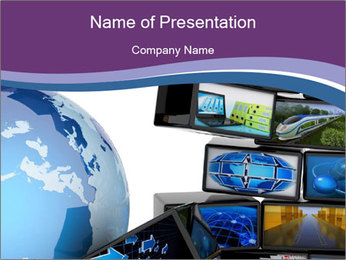 Global media PowerPoint Template - Slide 1