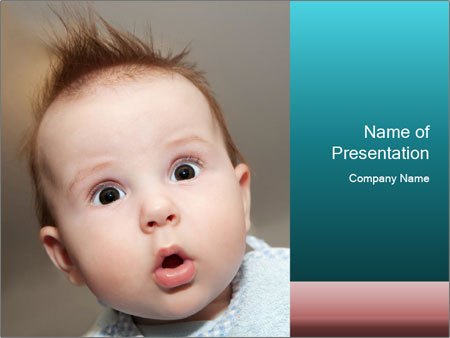 Cute  baby PowerPoint Template