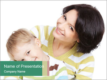 Bright picture of happy mother PowerPoint Template - Slide 1