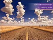 Road In Texas PowerPoint Template