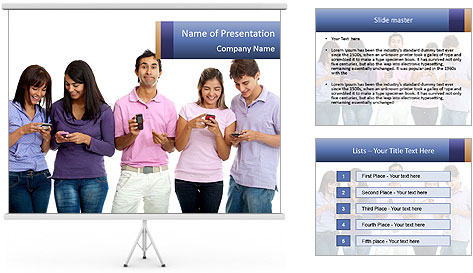 Young People And Technology PowerPoint Template