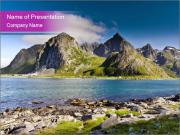 Lake In Norway PowerPoint Template