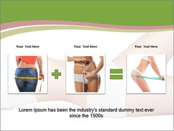 Slim Female Body PowerPoint Template - Slide 22
