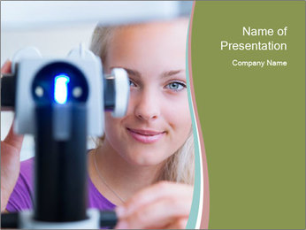 Ophthalmologist PowerPoint Template - Slide 1