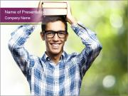 Student With Books PowerPoint Templates